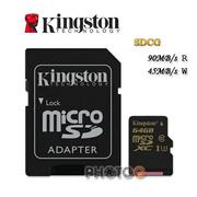 600X Kingston SDCG  microSDXC / SD 64GB 64G  class 10 UHS-I  U3 讀90mb/S 寫45mb/s 4K2K 錄影 運動攝影 空拍機 Gopro 終身保固