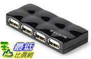 [美國直購]  Belkin 4-Port Hi-Speed USB 2.0 Mobile Hub (F5U404-BLK) _TC11 樞紐 $1098