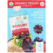 [iHerb] [iHerb] NurturMe Organic Yogurt Alternative, Purple Carrot + Banana + Berry, 4 Pouches, 3.5 oz (99 g) Each