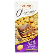 [iHerb] Valor, Milk Chocolate with Almonds, 0% Sugar Added, 5.3 oz (150 g)