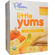 [iHerb] Plum Organics, Little Yums, Organic Teething Wafers, Pumpkin & Banana, 6 Packs, 0.5 oz (14.1 g) Each