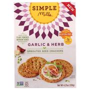 [iHerb] Simple Mills, Sprouted Seed Crackers, Garlic & Herb, 4.25 oz