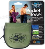 [ Sea to Summit ] Pocket Towel S 口袋型快乾毛巾 APTRE 灰綠