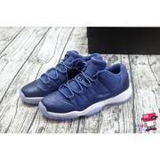 全新現貨 22.5~25cm NIKE AIR JORDAN XI LOW BLUE MOON GG 水鑽藍 女 GS