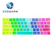 【SHOWHAN】Apple MacBook Pro Touch Bar 13吋中文注音鍵盤膜 彩色