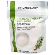 Smith & Vandiver, Fizzical Therapy Bath Bombs with Nutmeg & Fir Essential Oil, 4 Effervescent Bath Balls, 0.8 g (22 g) Each