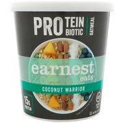 [iHerb] Earnest Eats, Protein Probiotic Oatmeal, Coconut Warrior, 2.5 oz (71 g)