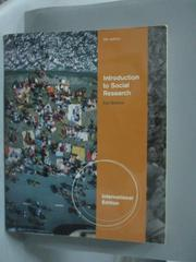 【書寶二手書T4/大學社科_QHS】Introduction to Social Research_Earl Babbi