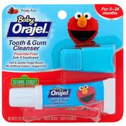 [iHerb] Orajel, Elmo Tooth & Gum Cleanser, Fluoride-Free, Fruity Fun, For 3-24 Months, 0.7 oz (19.8 g)