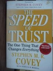 【書寶二手書T6/原文書_PKF】The Speed of Trust_Stephen M.R. Covey