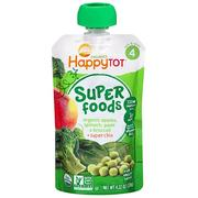 [iHerb] [iHerb] Nurture Inc. (Happy Baby) Happytot, Organic Superfoods, Apples, Spinach Peas & Broccoli + Super Chia, 4.22 oz (120 g)