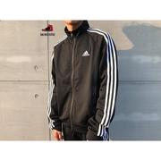 【Sneakers542】Adidas Essentials Jacket 立領 外套 黑白 三條線 BR1024