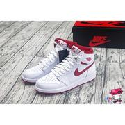 全新現貨 22.5cm~25cm NIKE AIR JORDAN 1 RETRO HIGH OG BG GS 白紅 女生