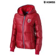 K-Swiss Quilted Down Jacket羽絨外套-女-酒紅