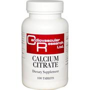 Cardiovascular Research Ltd., Calcium Citrate, 100 Tablets