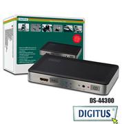 曜兆DIGITUS HDMI ~DS-44300三入一出切換器(付遙控器)