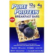 [iHerb] Pure Protein, Breakfast Bars, Blueberry Oatmeal, 4 Bars, 1.76 oz (50 g) Each