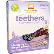 [iHerb] [iHerb] Nurture Inc. (Happy Baby) Gentle Teethers, Organic Teething Wafers, Blueberry & Purple Carrot, 12- (2 Packs), 0.14 oz (4 g) Each