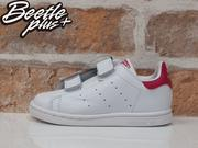 童鞋 BEETLE ADIDAS ORIGINALS STAN SMITH CF I 白 童紅 魔鬼氈 B32704 D-596 14.5 16.5 CM