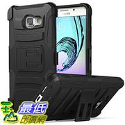 [106美國直購] Galaxy A5 Case, Holster Belt Clip + Built-in Kickstand - Black