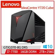 LENOVO IdeaCentre Y720 i7-7700 GT1070 2T桌上型主機(IC Y720 Cube_90H3000PTV)