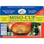 [iHerb] [iHerb] Edward & Sons Edward & Sons, Miso-Cup, Reduced Sodium Soup, 4 Single Serving Envelopes, 7.2 g Each