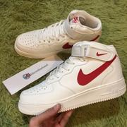 【老鞋頭】 Nike Air Force 1 Mid '07 35 週年 白紅 Mid 空軍 315123 126 限定
