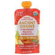 [iHerb] [iHerb] NurturMe Organic Power Blends, Ancient Grains, Stage 2/6+ Months, Strawberry, Banana, Amaranth, 3.5 oz (99 g)