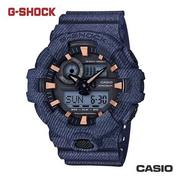 CASIO GA-700DE-2A《G-SHOCK 城市運動系列》53mm/丹寧布料質感/牛仔藍