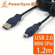 快搶✨ 群加 PowerSync USB2.0 mini USB 5pin傳輸線/1.8M (USMI5)
