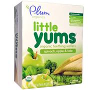[iHerb] Plum Organics, Little Yums, Organic Teething Wafers, Spinach, Apple & Kale, 6 Packs, 0.5 oz (14.1 g) Each