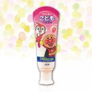 【LION 日本 獅王】《Made in Japan》ANPANMAN  Strawberry(Toothpaste of Kids)