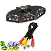 [美國直購] Fosmon A1602 Technology 3-Way Audio / Video RCA Switch Selector / Splitter Box & AV Patch Cable 適配線