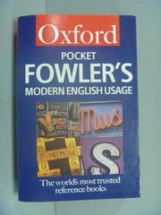 【書寶二手書T9/字典_GDW】Pocket Fowler's Modern English Usage_Henry W