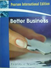 【書寶二手書T2/大學商學_QDH】Better Business_Mary Anne Poatsy_原文書