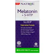 [iHerb] Natrol, Advanced Sleep Melatonin +5-HTP, 60 Bi-Layer Tablets