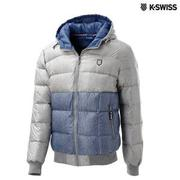 K-Swiss Quilted Reversible Down Jacket羽絨外套-男-炭灰/單寧藍