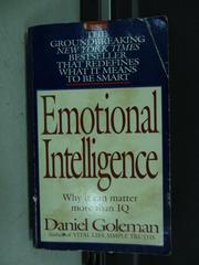【書寶二手書T4/原文小說_KPZ】Emotional Intelligence_Daniel Goleman