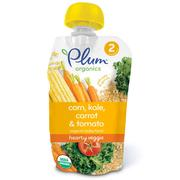 [iHerb] Plum Organics, Organic Baby Food, Stage 2, Hearty Veggie, Corn, Kale, Carrot & Tomato, 3.5 oz (99 g)