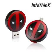 InfoThink DeadPool 死侍OTG雙頭造型隨身碟 16GB