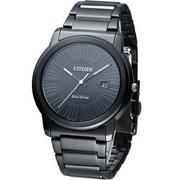 CITIZEN Eco-Drive 光電時尚紳士錶 AW1215-54E