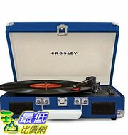 [美國直購] Crosley CR8005D-BL 藍色 手提箱黑膠播放機 可攜式音響 音箱 Cruiser Deluxe Portable 3-Speed Turntable with Bluetooth