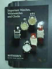【書寶二手書T6/收藏_ZHJ】Sotheby's_Important watches..._1998/6/22_6隻錶