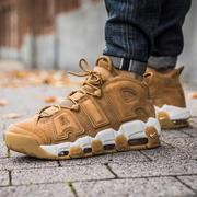 NIKE AIR MORE UPTEMPO '96 PRM 卡其 麂皮 男 (布魯克林) AA4060-200