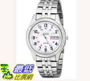 [104美國直購] 男士手錶 Seiko Men's SNE045 Solar White Dial Watch $3885