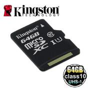 金士頓 Kingston MicroSDXC Class10 UHS-I 64GB 記憶卡 (SDC10G2/64GB)