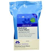 [iHerb] Derma E, Hydrating Facial Wipes, 25 Pre-Moistened Compostable Wipes