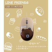 B.Friend LINE FRIENDS 熊大有線滑鼠