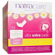 [iHerb] Natracare, Organic & Natural Ultra Extra Pads, Super, 10 Pads