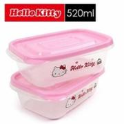 樂扣樂扣 Hello Kitty EZ Lock保鮮盒 520ml (二入組) LKT804